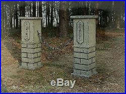 Evil Soul Studios Cemetery Entrance Gateway Columns Set Graveyard Halloween Prop