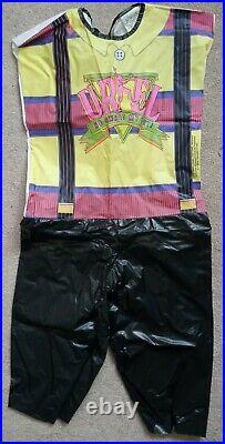 Family Matters Steve Urkel Vintage Costume Collegeville 1992 Purple 100% Vinyl