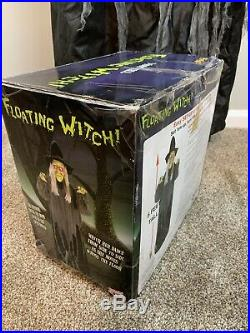 Floating Witch 5 Feet Tall Gemmy Halloween Animated Prop Spirit