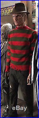 Freddy Krueger Silicone wfx pt 4 mask, glove, left hand, fedora, sweater