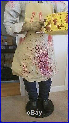 GEMMY LIFESIZE LEATHERFACE ANIMATRONIC TEXAS CHAINSAW MASSACRE halloween prop