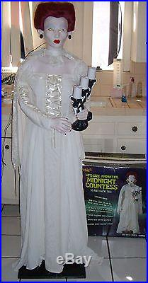 Gemmy Midnight Countess. Fully Working! Ultra Rare Standing Halloween Prop