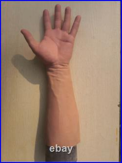 GMP silicone gloves, realistic skin texturewearable artificial limb young man
