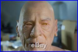 GMP silicone mask, old european manrealistic skin texture