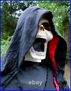 Gemmy 6 Ft Halloween Indoor/outdoor Grim Reaper Prop Candy Tray Lights Sounds