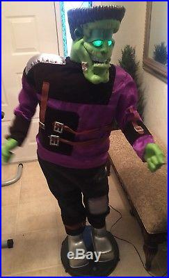 Gemmy Animated 5 Foot Singing And Dancing Monster With Light Up Eyes And Box