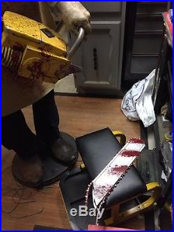 Gemmy Lifesize 6ft Leatherface Halloween Prop Texas Chainsaw Massacre