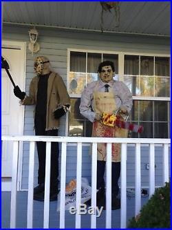 Gemmy Lifesize Animated Jason Voorhees, Leatherface & Freddy Halloween Prop Lot