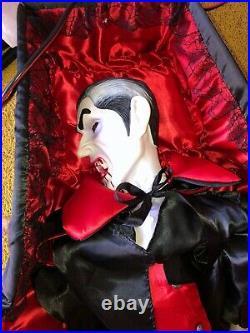 Grandin Road Vampire Raises Coffin Lights Up Rare Htf Gemmy Morbid