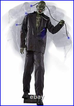 HALLOWEEN LIFE SIZE ELECTRIFIED EDDIE Animatronic ANIMATED 6 FT PROP