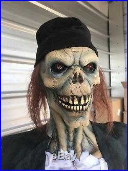HALLOWEEN LIFE SIZE ZOMBIE DRIFTER PROP WITH LED EYES Free Shipping