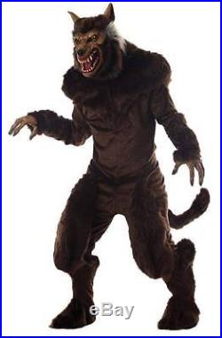 Halloween Prop Werewolf Adult Deluxe Mask And Costume