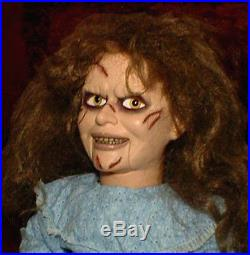 HAUNTED Exorcist Ventriloquist doll EYES FOLLOW YOU creepy puppet dummy prop