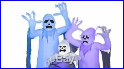Halloween Airblown Inflatable Short Circuit Ghosts Trio with Tombstone Scene NEW