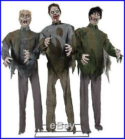 Halloween Animated Life Size Walking Dead Zombie Horde Prop Decoration Sounds