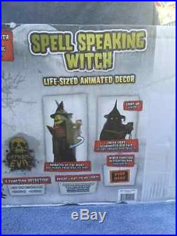 Halloween Animatronic SPELL-SPEAKING WITCH 5'8 Tall Prop Seasonal Visions