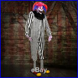 Halloween Haunters 7ft Animated Standing Scary Evil Reaper Clown Prop Decoration