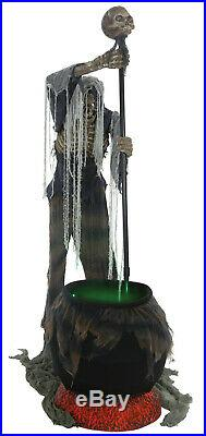 Halloween Life Size Animated Stirs Cauldron Creeper Prop Decoration Animatronic