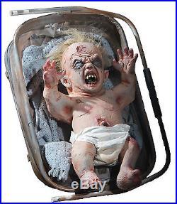 Halloween Life Size Animated Zombie Baby Prop Decoration Animatronic