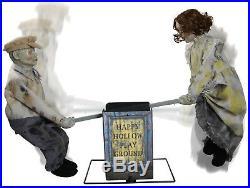 Halloween Lifesize Animated See Saw Dolls Creepy Prop Decoration Haunted House