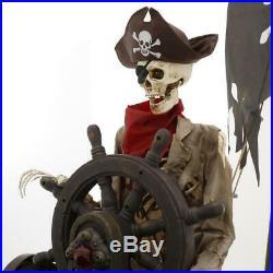Halloween Prop Pirate Ship 116 in. Animated Steering Wheel Indoor Outdoor Decor