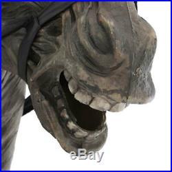Halloween Props Life Size Decor Headless Horseman Animated Lighted Sounds Lights