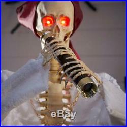Halloween Props Life Size Set of 2 Skeleton Pirates Skull n Bones Animated Sound