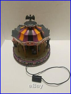 Halloween Spooky Town Scare Ousel 2007 Lemax Carousel AS IS DOES NOT SPIN