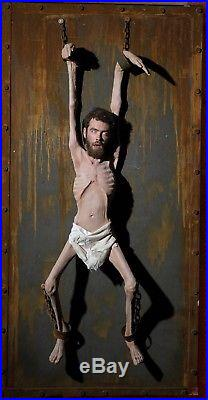 Halloween Starved Chained Prisoner Haunted House Morris Costumes Prop DU-3000