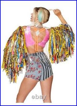Harley Quinn Moto Jacket Birds of Prey size med (sh, a)
