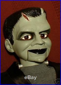 Haunted Ventriloquist Doll EYES FOLLOW YOU Frankenstein Prop Dummy Puppet