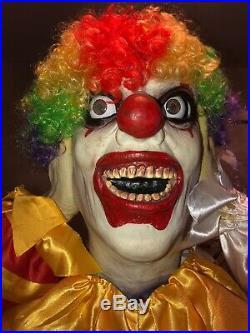 Heads Up Harry Clown Very Rare Htf Sprit Halloween Gemmy Clown Madness