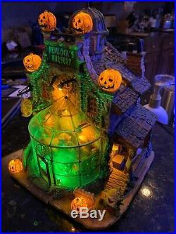 Hemlock's Nursery #45661 Lemax Spookytown Halloween Village Carnivorous Plants
