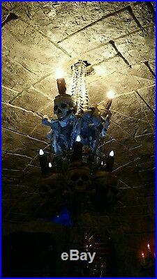 High End Quality Large Skull and Bones Chandelier -Ultimate Halloween Prop