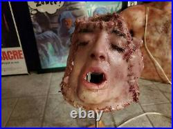 Human skin lampshade 6 skinned faces body parts horror gore special effects fx