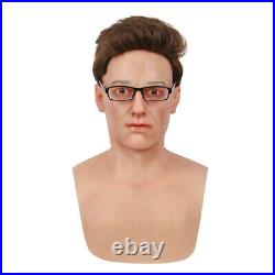 IMI Bell Realistic Silicone Young Man Crossdresser Face Headwear Halloween Props