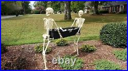 IN STOCK Life Size SKELETONS CARRYING COFFIN Halloween Prop HAUNTED Decor