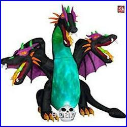 Inflatable Three Headed dragon animated 10' Halloween Gemmy New