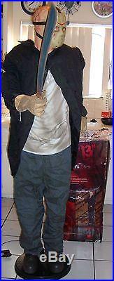 JASON VOORHEES LIFE SIZE ANIMATRONIC. 6'4 TALL. Complete. Halloween prop