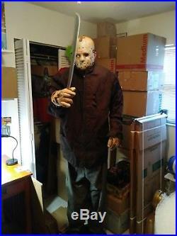 Jason Vorhees Life Size Animatronic Halloween Prop by Gemmy