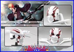 Kurosaki Ichigo tensa bankai cosplay full face hollow helmet red white black