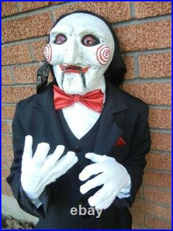 LARGE BILLY DOLL from SAW MOVIE HALLOWEEN HORROR DISPLAY PROP 3 1/2 FOOT TALL
