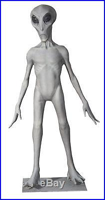LIFE SIZE ALIEN PROP UFO 68 INCHES TALL Jordu Schell Halloween Space Statue