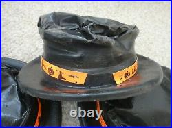 LOT 1960s vintage 4 HALLOWEEN HOBO vacuform plastic COSTUME PARTY HATS black cat