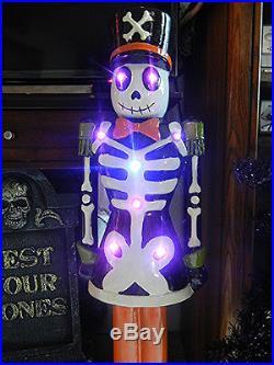 Large 3 Foot Tall Led Lighted Skeleton Halloween / Christmas Nutcracker