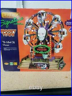 Lemax Spooky Town The wheel Of Horror retired 2010