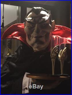 Life Size 6 Foot Halloween Greeter Vampire-Dracula Figure party prop