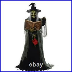 Life Size Animated SPELL SPEAKING WITCH Haunted House Halloween Prop Decoration