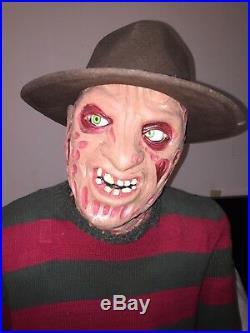 Life Size Animatronic Freddy Krueger Gemmy Horror Nightmare Elm Street