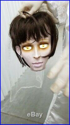 Life Size Gemmy Beheaded Headless Bride Animated Halloween Prop Animatronic